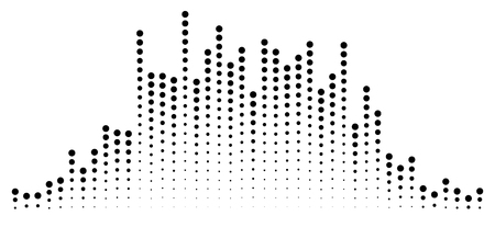 Abstract equalizer element with dotted lines of the channels Illustration