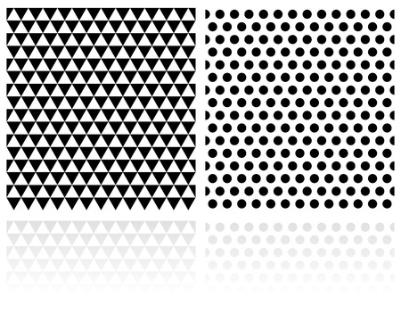 Repeatable seamless geometric pattern with triangles and circles