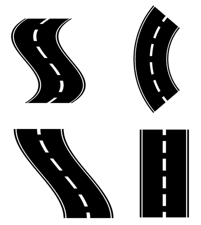Empty roads, highway shapes, elements