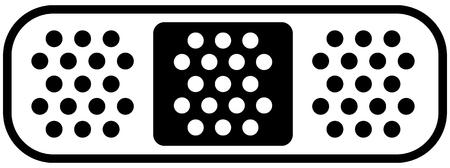 Icône plate de pansement. Symbole de pansement pour les blessures, le traitement des plaies, les concepts de remède Vecteurs