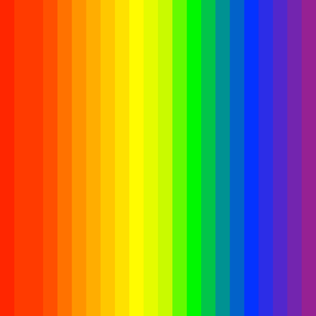 RGB, rainbow spectrum colored stripes, lines. Visible spectrum LGBTQ theme or for generic design