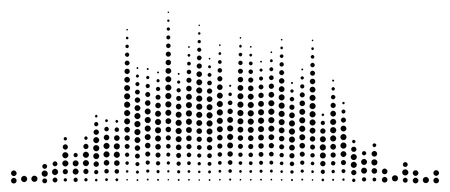 Abstraktes Equalizer-Element mit gepunkteten Linien der Kanäle