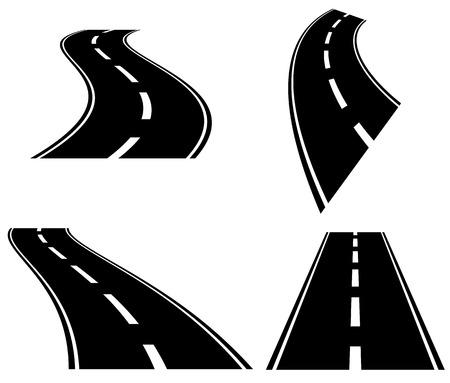 routes 3D en perspective. Disparition, diminuant les routes dans l'horizont