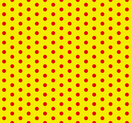 Red and yellow dotted, polka dot, pop-art pattern. Circles pattern / background (seamlessly repeatable) Çizim