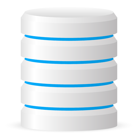 3d cylinder. Datacenter, webhosting, hard disk icon Illustration