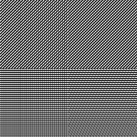 Set of 4 grid, mesh pattern. Grid, mesh texture
