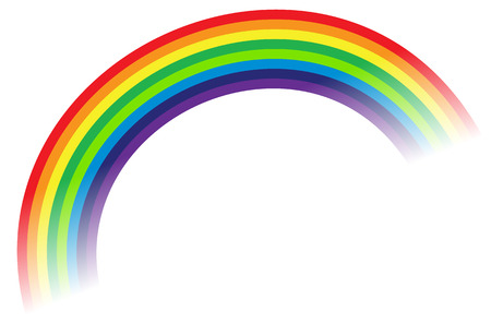 Rainbow illustration, rainbow graphic element  isolated on white Illustration