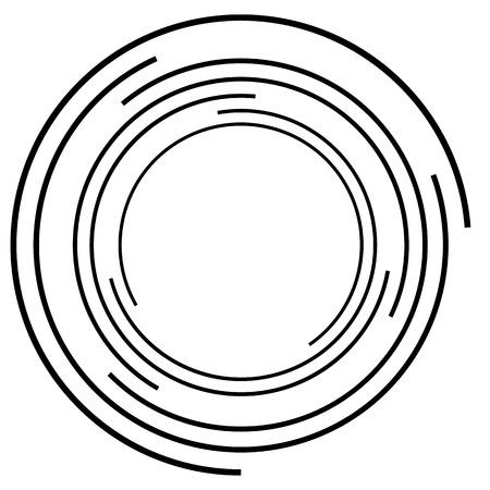 Concentric circle. Circular random lines