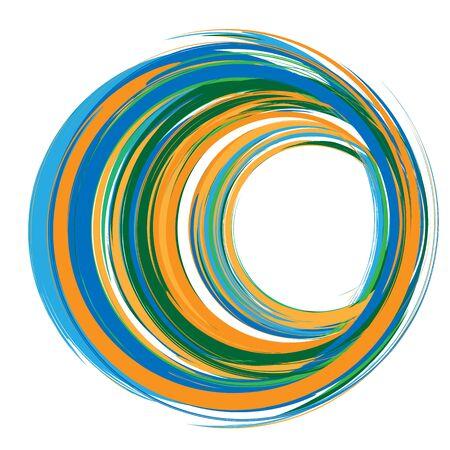 Élément de design ovale avec cercles texturés superposés