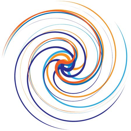 Multicolor spiralled  spirally concentric circle for design element Illustration