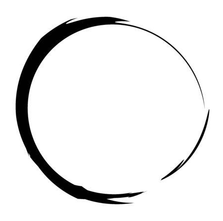 Circular grungy grunge circle frame / Splatter, splash effect isolated on white 矢量图像