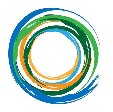 Élément de cercle circulaire concentrique / grungy. Radial, rayonnant texturé / circulaire, forme de cercle Vecteurs