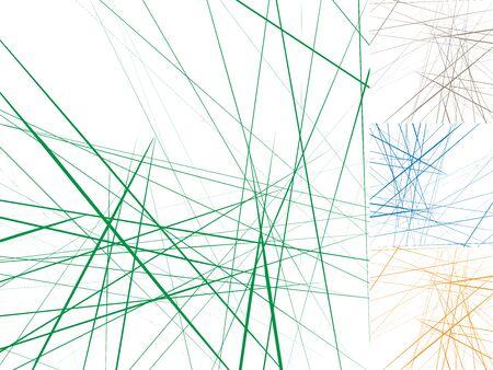 Random artistic random lines in 4 color combo 向量圖像