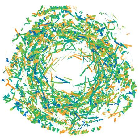 Abstract circular, geometric swirl, twirl, spiral shape. Spiral design element Ilustração Vetorial