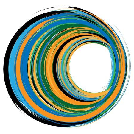 Élément de design ovale avec cercles texturés superposés Vecteurs