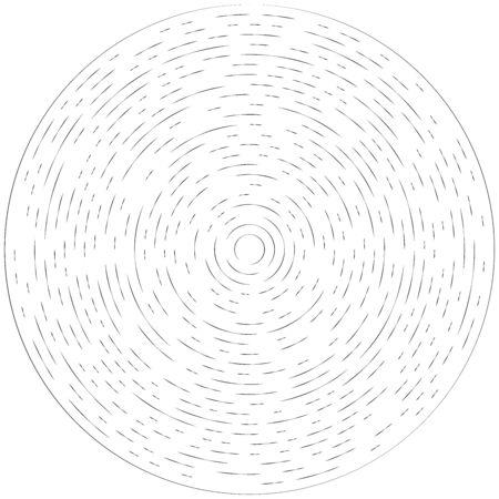 Rayon radial, lignes de faisceau. Motif de rayures de rayonnement circulaire. Lueur, effet scintillant. Glaçure, flare, conception d'aurore. Sunburst, lignes concentriques en étoile comme scintillement, éclat, illustration de paillettes. Effet scintillant, brillant, scintillant Vecteurs
