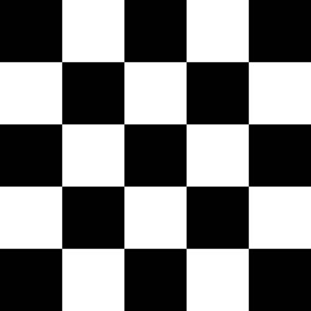Checkered, chequered seamless pattern. Chess squares repeatable texture. Checkerboard tiles background Illustration