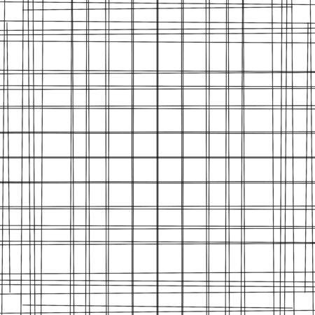 Dynamic, random lines grid, mesh. Crosshatch, tangled straight lines. Crossing  scribble stripes, streaks geometric pattern