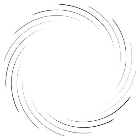 Abstract spiral, twist. Radial swirl, twirl curvy, wavy lines element. Circular, concentric loop pattern. Revolve, whirl design. Whirlwind, whirlpool illustration Иллюстрация