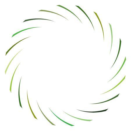 Abstract spiral, twist. Radial swirl, twirl curvy, wavy lines element. Circular, concentric loop pattern. Revolve, whirl design. Whirlwind, whirlpool illustration Ilustração
