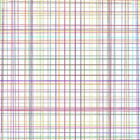 Random grid, mesh of colorful lines. Asymmetric pattern of intersecting, crossing, irregular stripes