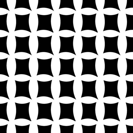 Repeatable, seamless geometric pattern. Overlapping deform, distort shapes background, texture