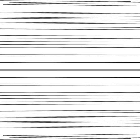 Dynamic horizontal lines, stripes. Random linear, lineal pattern