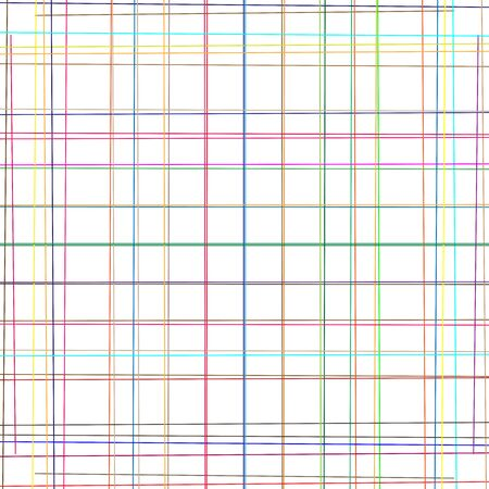 Random grid, mesh of colorful lines. Asymmetric pattern of intersecting, crossing, irregular stripes