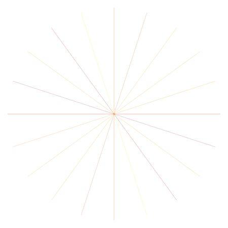 Orange, yellow radial, radiating lines. Rays, beams. Starburst, sunburst element. Sparkle, gleam, twinkle effect. Circular, concentric design Illusztráció