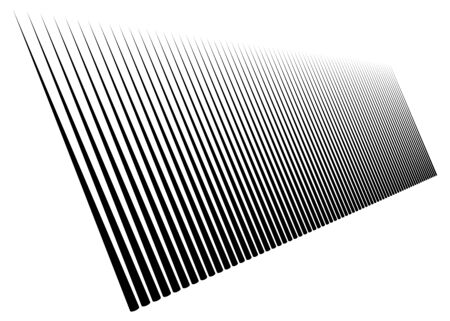3d lines pattern in perspective. Oblique, slanting stripes. Diminishing parallel, straight skew strips, streaks texture.Asymmetric dynamic lines abstract geometric illustration. Lineal, linear element Illustration
