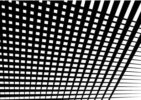 Grid, mesh with dynamic lines. Intersecting stripes. Irregular grating, lattice texture. Interlocking, criss-cross abstract geometric illustration Banco de Imagens - 130044094