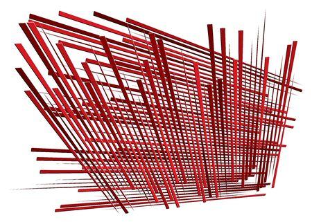 Grid, mesh with dynamic lines. Intersecting stripes. Irregular grating, lattice texture. Interlocking, criss-cross abstract geometric illustration Banco de Imagens - 130044138