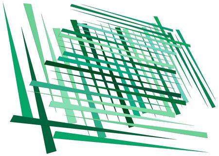 Grid, mesh with dynamic lines. Intersecting stripes. Irregular grating, lattice texture. Interlocking, criss-cross abstract geometric illustration Banco de Imagens - 130044171