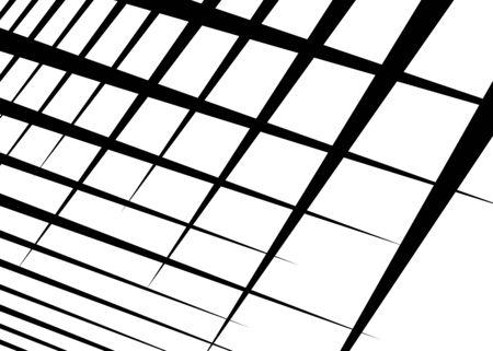Grid, mesh with dynamic lines. Intersecting stripes. Irregular grating, lattice texture. Interlocking, criss-cross abstract geometric illustration Banco de Imagens - 130044207