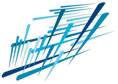 Grid, mesh with dynamic lines. Intersecting stripes. Irregular grating, lattice texture. Interlocking, criss-cross abstract geometric illustration Banco de Imagens - 130044239