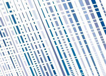 Grid, mesh with intermittent, dashed lines. Intersecting dynamic stripes. Irregular grating, lattice texture. Interlocking, criss-cross abstract geometric illustration Illustration