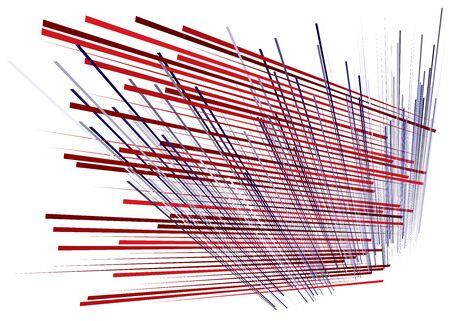Grid, mesh with dynamic lines. Intersecting stripes. Irregular grating, lattice texture. Interlocking, criss-cross abstract geometric illustration Banco de Imagens - 130044287