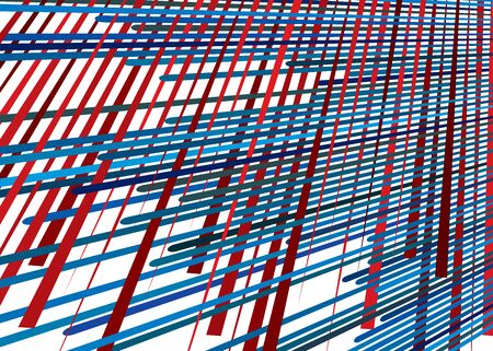 Grid, mesh with dynamic lines. Intersecting stripes. Irregular grating, lattice texture. Interlocking, criss-cross abstract geometric illustration Banco de Imagens - 130044293
