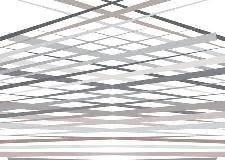 Grid, mesh with dynamic lines. Intersecting stripes. Irregular grating, lattice texture. Interlocking, criss-cross abstract geometric illustration Çizim
