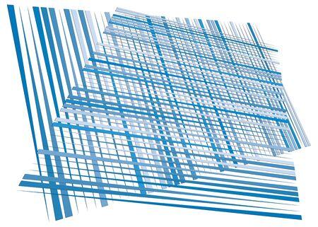Grid, mesh with dynamic lines. Intersecting stripes. Irregular grating, lattice texture. Interlocking, criss-cross abstract geometric illustration Banco de Imagens - 130044310
