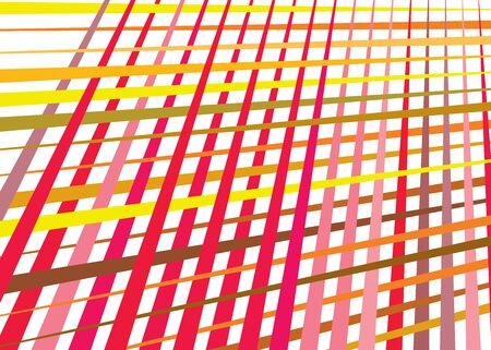 Grid, mesh with dynamic lines. Intersecting stripes. Irregular grating, lattice texture. Interlocking, criss-cross abstract geometric illustration Banco de Imagens - 130044312