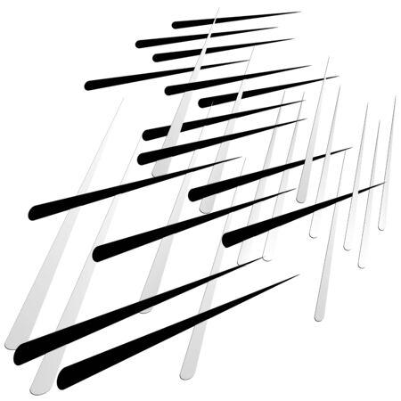 Grid, mesh with dynamic lines. Intersecting stripes. Irregular grating, lattice texture. Interlocking, criss-cross abstract geometric illustration Banco de Imagens - 130044313