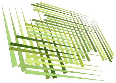 Grid, mesh with dynamic lines. Intersecting stripes. Irregular grating, lattice texture. Interlocking, criss-cross abstract geometric illustration