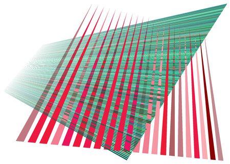 Grid, mesh with dynamic lines. Intersecting stripes. Irregular grating, lattice texture. Interlocking, criss-cross abstract geometric illustration Banco de Imagens - 130044315
