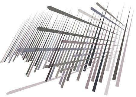 Grid, mesh with dynamic lines. Intersecting stripes. Irregular grating, lattice texture. Interlocking, criss-cross abstract geometric illustration Banco de Imagens - 130044327