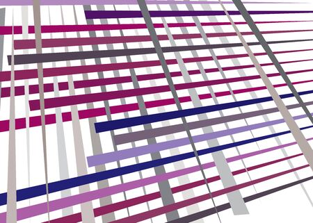 Grid, mesh with dynamic lines. Intersecting stripes. Irregular grating, lattice texture. Interlocking, criss-cross abstract geometric illustration Banco de Imagens - 130044324