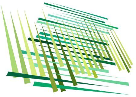 Grid, mesh with dynamic lines. Intersecting stripes. Irregular grating, lattice texture. Interlocking, criss-cross abstract geometric illustration Banco de Imagens - 130044352