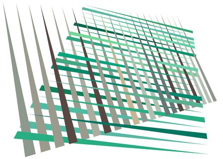 Grid, mesh with dynamic lines. Intersecting stripes. Irregular grating, lattice texture. Interlocking, criss-cross abstract geometric illustration Banco de Imagens - 130044354