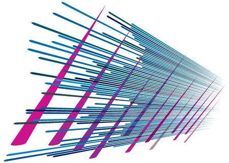 Grid, mesh with dynamic lines. Intersecting stripes. Irregular grating, lattice texture. Interlocking, criss-cross abstract geometric illustration Banco de Imagens - 130044408