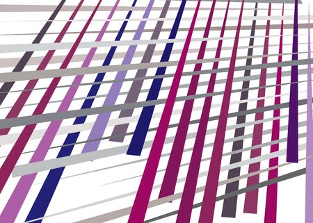 Grid, mesh with dynamic lines. Intersecting stripes. Irregular grating, lattice texture. Interlocking, criss-cross abstract geometric illustration Banco de Imagens - 130044419